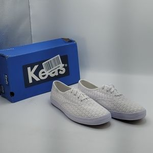 Keds women's champion mini daisy sneaker white 7m